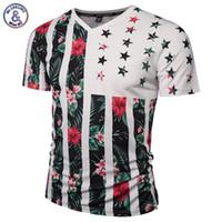 t-shirt schädel blumen großhandel-Mr.1991INC USA Flagge Blumen T-shirt Männer / Frauen Mode Marke T-shirt Drucken Schädel Bäume V-ausschnitt Sommer t-shirt Tops Tees