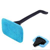 longo, segurado, car, limpeza, escova venda por atacado-Microfibra Auto Janela Cleaner punho longo Lavador de carro escova do pára-brisa de vidro Wiper pano de limpeza da escova ferramenta lavável Handy Rag