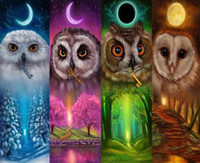 Wholesale Folk Star - MOON CRESIN 3D Diy Diamond Painting Cross Stitch Owl With Key Moon Star Sun Diamond Embroidery Full Round Diamond Mosaic Handmade