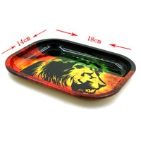 Wholesale Size Small Machine - RAW BOB Marley Rolling Tray Metal Tobacco Roll 6 pattern 18cm*14cm*1.5cm small size for rolling papers herb grinder Machine Tools