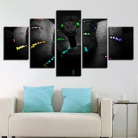 Wholesale 5 Pieces Beautiful Glowing Dangerous Creep Animal Color Snake Paintings Home Decor Canvas Pictures Wall Art Prints Posters