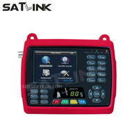 buscador de medidores dvb s al por mayor-3.5 pulgadas LCD SATLINK WS-6950 DVB-S buscador de satélite buscador satlink metro WS6950 satfinder solo buscador medidor envío gratis
