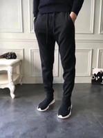 tulum pantolonu takılı pantolon toptan satış-Kanada Marka Erkekler Casual tulum cilt fit ter pantolon erkekler için pantolon joggers egzersiz sweatpants hip hop sokak yü ...