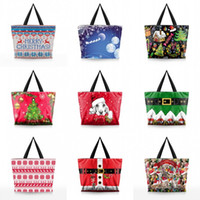 Wholesale end shop online - Fashion Christmas Theme Storage Bag Inelastic Polyester Fibre Shopping Bags For Women Outdoor Designer Handbags High End nd BB