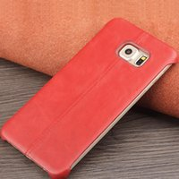 Wholesale Galaxy Skin Back Cover Cases - promotion 60556 ultra slim calf skin back cover for Samsung Galaxy S6 edge plus,fashion business back case for galaxy S6 edge+ 5.7inch