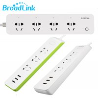 elektrik şeritleri toptan satış-Orijinal BroadLink MP2 Akıllı Wifi Güç Şeridi WiFi Soket Uzaktan Kumanda 3 Çıkış ile 3 USB Hızlı Şarj için 2.1A iOSAndroid smarphone