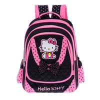 ingrosso borse da scuola elementare per ragazze-FZMBAI Borse scuola per bambine Hello Kitty Zaini principessa e traspirante Satchel Zaini primarie Escolar