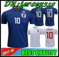 Wholesale cartoon xxl - 2018 World Cup Japan soccer jersey ATOM CARTOON NUMBER Japan Tsubasa OKAZAKI KAGAWA ENDO NAGATOMO HASEBE KAMAMOTO Football Shirt