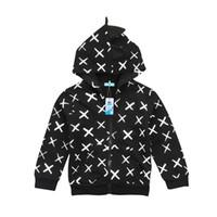 kleinkindjunge 3t sweatshirt großhandel-Kinder Baby Jungen Mädchen Kleinkind Dinosaurier Hoodie Pullover Mit Kapuze Sweatshirts Langarmshirts Sweatshirt Mantel