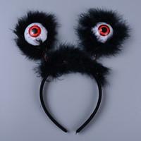 saç bandı kostümü toptan satış-Çizgili Cadılar Bayramı LED Hairband Aydınlık Gözküresi Bandı Saç Çember Kostüm Aksesuarları Parti Iyilik (Rastgele Renk)