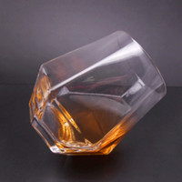 Wholesale led containers for sale - 2pcs set Sober cup Wine glass lead free liquor cup Whiskey foreign wine cocktail Beer Water Drinking Tumbler Transparent Glasses Container