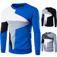 Wholesale hit clothing online - Designer Hoodies Spring New Men s Casual Long sleeved Wind Hit The Color Stitching Hedging Sweater Men s Clothing Sweatshirts