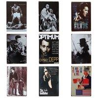 elvis posteri toptan satış-Yıldız Antik Demir Boyama Elvis Presley Chaplin 20 * 30 cm Kalay Posteri Godfather Beni Litre Kalay Işareti Moda ZB