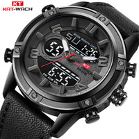 оптовые продажи оптовых-KAT-WACH Whole Sale Men's Fashion Sport Watches Men Quartz Analog Date Clock Man Leather  Waterproof Watch Sale for Lot