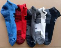 venda de tornozeleiras venda por atacado-Meias mens marca designer de tornozelo meias ua algodão respirável tornozeleira meias esportes chinelos homens correndo low-cut meias para venda