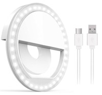 Wholesale level camera online - Rechargable Selfie Light Ring with LED Lights Brightness Level Cell Phone Laptop Camera Photography Video Lighting with Retail Package