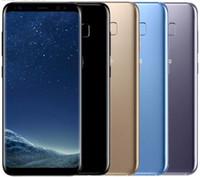ingrosso sbloccare il singolo sim android-Sbloccato originale Samsung Galaxy S8 da 4 GB RAM 64 GB ROM singolo Sim Octa Core da 5,8 pollici display Android Fingerprint Smartphone rinnovato telefono