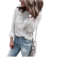 ingrosso camicia bianca in pizzo-