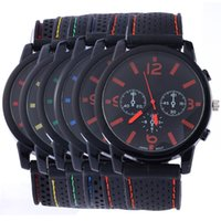 Wholesale Mm Racing - unisex mens womens colorful rubber simple design racing quartz watches fashion casual ladies sport wrist watches for mens women