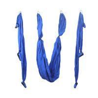 Wholesale yoga swing for sale - 1 Piece Blue Air Flying Yoga Hammock Aerial Yoga Hammock Belt Fitness Swing mx1 m