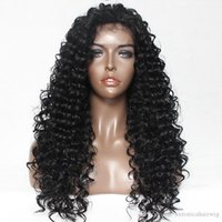 Wholesale blonde wig skin - Hot Selling Natural Black 1b# 613# Loose Curly Water Wave Synthetic Lace Front Wig for Black Skin Women Glueless Heat Resistant Fiber Wig