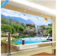 Wholesale kids room wallpaper free shipping resale online - Customized photo wall mural wallpaper Elegant Chinese style TV wall background wallpaper for walls d home decor