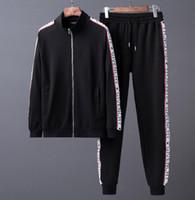 ingrosso giacche a maniche corte-High-end suit nbv progettista del marchio tute da jogging maschile stampato felpe con cappuccio squalo felpa slim fit tute per uomo giacca felpe