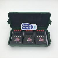 fuegos artificiales inalámbricos disparando al por mayor-12 Cue Wireless Fireworks Sistema de control de tiro equipo + control remoto de equipos de control de fuego + sistema de Boda programable + remoto programable