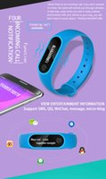 Wholesale Pro Monitoring - M2 pro Bluetooth4.0 Blood Pressure Waterproof IP67 Smart Bracelet Heart Rate Monitor Sleep monitor Wristband for Android iOS free DHL