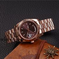 Wholesale new day rose resale online - DAYDATE Rose Gold Orologio Di Lusso Watch Day Date President Automatic Watches Orologio Da Polso Automatico Lusso Orologio Relo Reloj