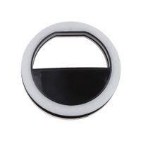 selbstbedienung für handy großhandel-Luxus Selfie Luminous LED Leuchten Telefon Ring für Mobile Smartphone Schwarz
