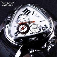 Wholesale triangle men watches - JARAGAR Top Luxury Brand Mens Watches Men Triangle Shape Automatic Mechanical Watches Auto Date Wristwatch Relogio Masculino SLZa46