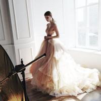 düğün için toplar toptan satış-Rustik Abiye Gelin Uzun Tül Etekler Elastik Mahkemesi Tren Için Romantik Etek High End Pretty Maxi Uzun Etek Düğün Için