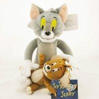 ingrosso giocattoli di jerry-2pcs / set Giocattoli Tom e Jerry peluche ripiene bambole giocattoli di alta qualità animali peluche, classico per i bambini