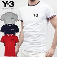 ingrosso magliette a collo di y-2018 moda Y-3 amanti della coppia polo t-shirt uomo donna camisetas mujer tees donna uomo manica corta o-collo estate y3 casual t-shirt y-3