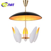 Wholesale Glass Wrought Iron Chandelier - FUMAT Simple Post-modern Wrought Iron Glass Chandelier Creative Living Room Bedroom Bar Cafe Decoration Lamp Free Shipping