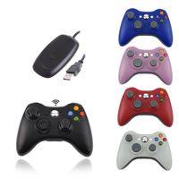 mandos a distancia xbox al por mayor-2.4G Control remoto inalámbrico para computadora Xbox 360 con receptor de PC Gamepad inalámbrico para Microsoft Xbox360 Joystick Controle 20pcs / lot