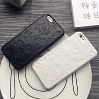 iphone için sevimli çift durumlarda toptan satış-YunRT Süper sevimli siyah beyaz Çift deri yumuşak kapak kılıf iphone 6 7 8 8 Artı X XR XS MAX telefon kılıfları