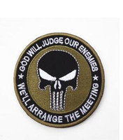 Wholesale embroidery patches badges - 2018 New Punisher's Armband Tactical Army Badge Backpack Embroidery Individualized Patch Badge