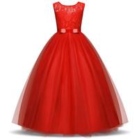 e6b39a0435392 Çocuk Uzun Balo Abiye Yaz Dantel Aplike Kız Elbise Genç Kızlar Düğün Parti  Gelinlik Modelleri Genç Doğum Günü Için Tül Balo 5-14 T