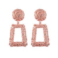 grande soie achat en gros de-Designer boucles d'oreilles bijoux en métal 6 couleurs boucles d'oreilles femme luxe maxi fil de soie bohème rouge géométrie grandes boucles d'oreilles pour les femmes bijoux cadeau