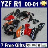 ingrosso qualità yamaha-Kit carena di alta qualità per carenature YZF R1 2000 2001 Yamaha set YZFR1 00 01 AG58