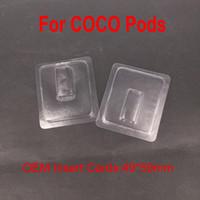 buharlı sigara başlangıç kitleri toptan satış-Temizle plastik kapaklı Fit COCO Pod Vape Kalem UUL için başlangıç Elektronik sigara Elektronik Sigara Aksesuar kiti Pod bakla ...