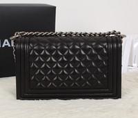 Wholesale small hasp lock online - Classic Le Boy Flap Bag Women s Plaid Chain Bag Ladies Luxury High Quality Handbag Fashion Designer Purse Shoulder Messenger Bags cm
