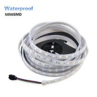 Wholesale Led Strip Light Pack - High quality Silicone Tube IP67 Waterproof 5050 LED Strip 60Led m DC12V White Warm White RGB Flexible Led String Light 5M pack