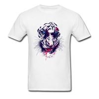 kaplan 3d boyama toptan satış-Kayıp Kaplan T-Shirt Erkekler 2018 Yeni Moda Serin T Shirt Yaz / Sonbahar Kazak Korku Zarar Kaplan Tshirt 3D Dijital Boyama