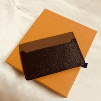 M61733 France Luxury Designer Women Men Card Holder Mono Gram Canvas Brown Checkered Black Plaid Canvas Leather Free Shipping Good Quality