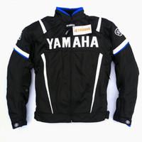 jaqueta de protecção da motocicleta venda por atacado-Mens jaqueta de motos para yamaha malha respirável motocicleta proteção moto proteja almofadas corrida de armadura de moto chaqueta verano