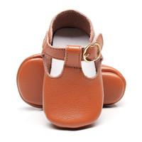 bébé filles mary jane chaussures achat en gros de-Cuir véritable T-bar Mary jane Bébé Filles Chaussures Bébés Enfant Bébé Princesse Ballet Chaussures Nouveau-né Crèche souple semelle