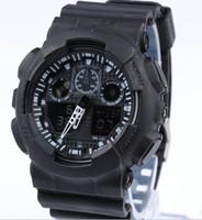 большие светодиодные часы оптовых-новые мужчины военные большие часы Наручные часы ga100 светодиодные кварцевые часы Спорт мужской relogios masculino Спорт S шок часы мужчины G часы